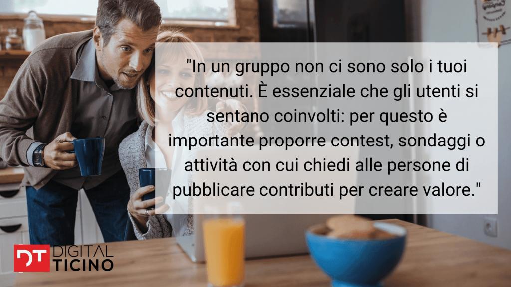 In una community sui social media è importante incentivare la partecipazione da parte degli utenti.