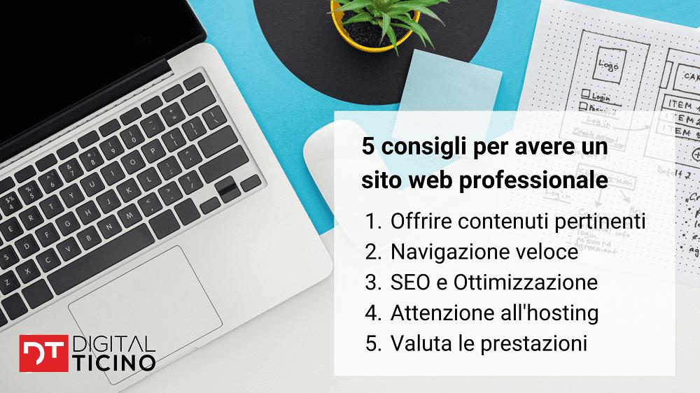 Consigli per avere un sito web professionale e per farsi trovare su Google tra i primi risultati di ricerca.