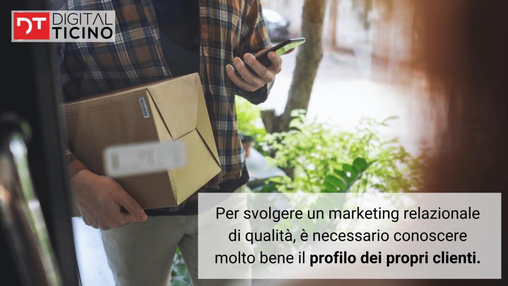 studiare e conoscere il profilo dei clienti per ottimizzare il marketing relazionale